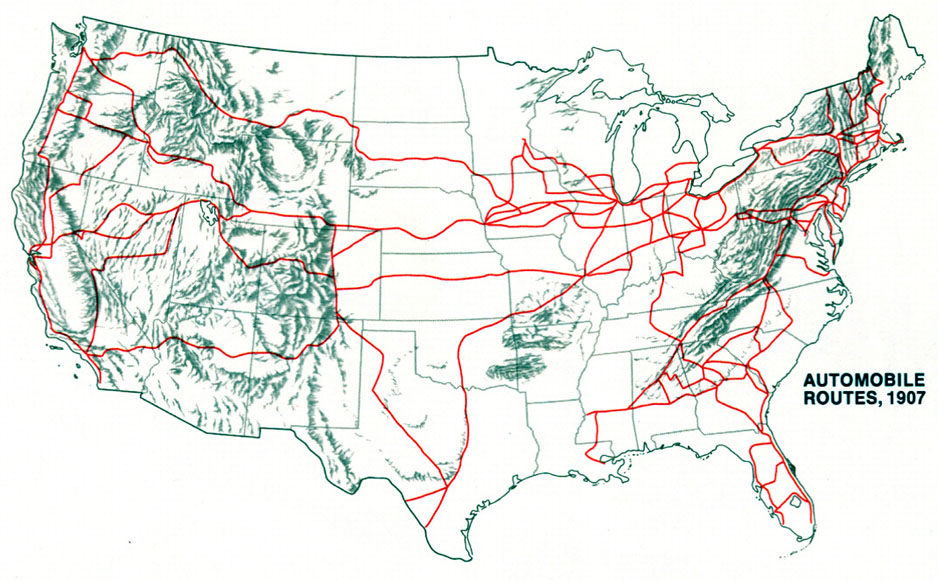 maps automobile routes 1907 latin american studiesorg