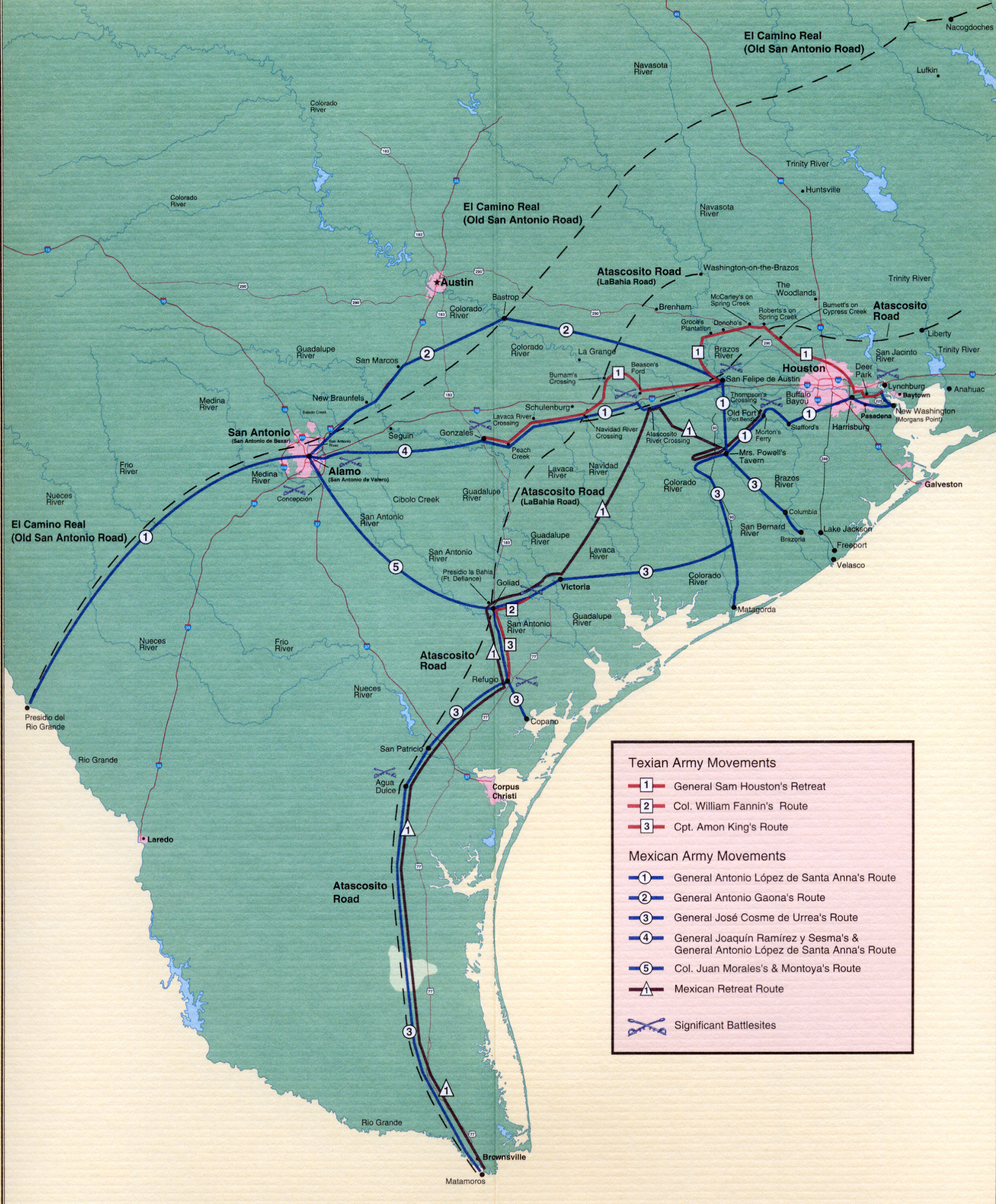 Map Of The Texas Revolution
