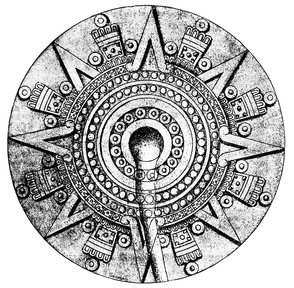 aztec calendar coloring page free here