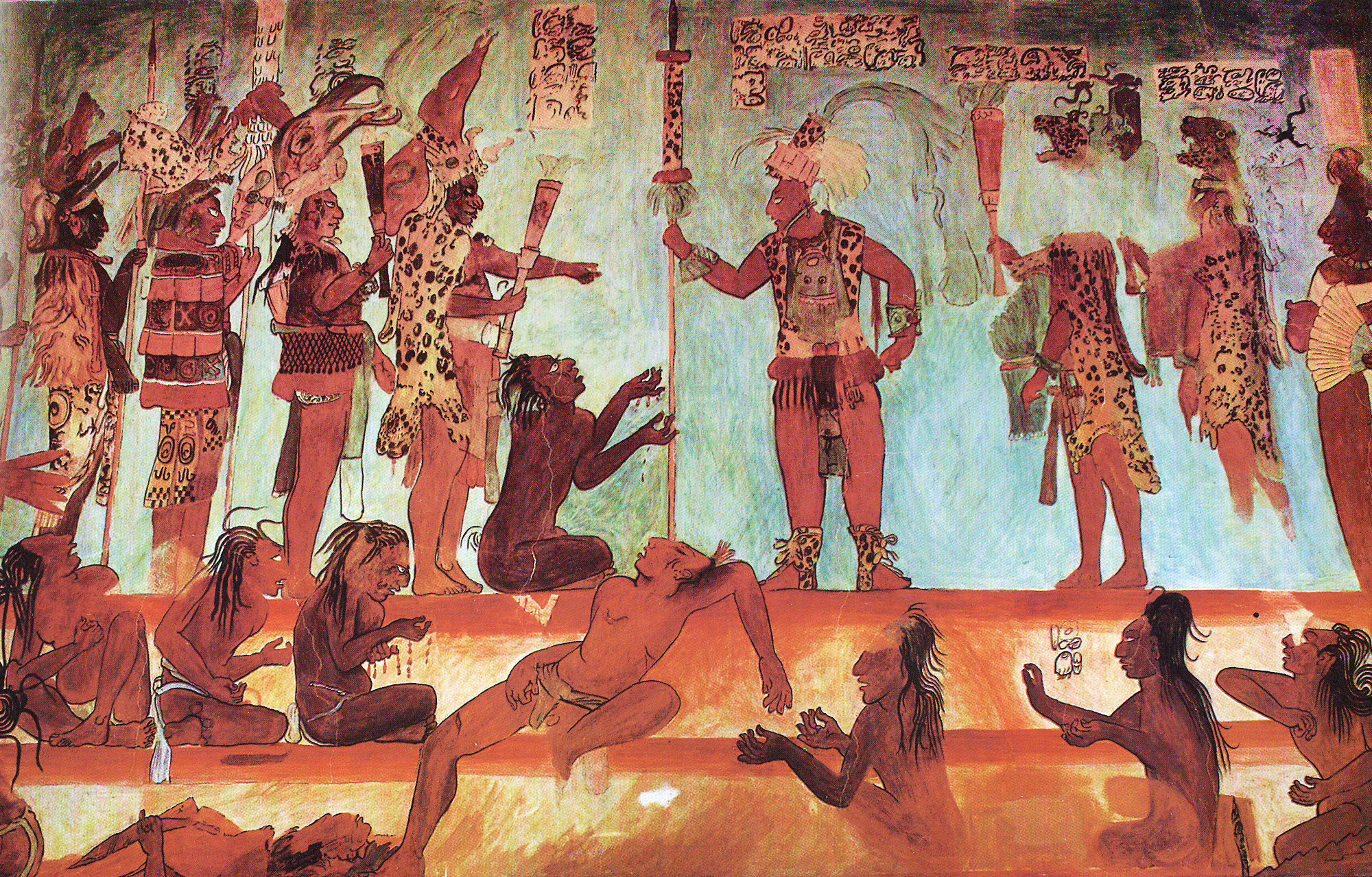 Maya war captives for Bonampak mural painting