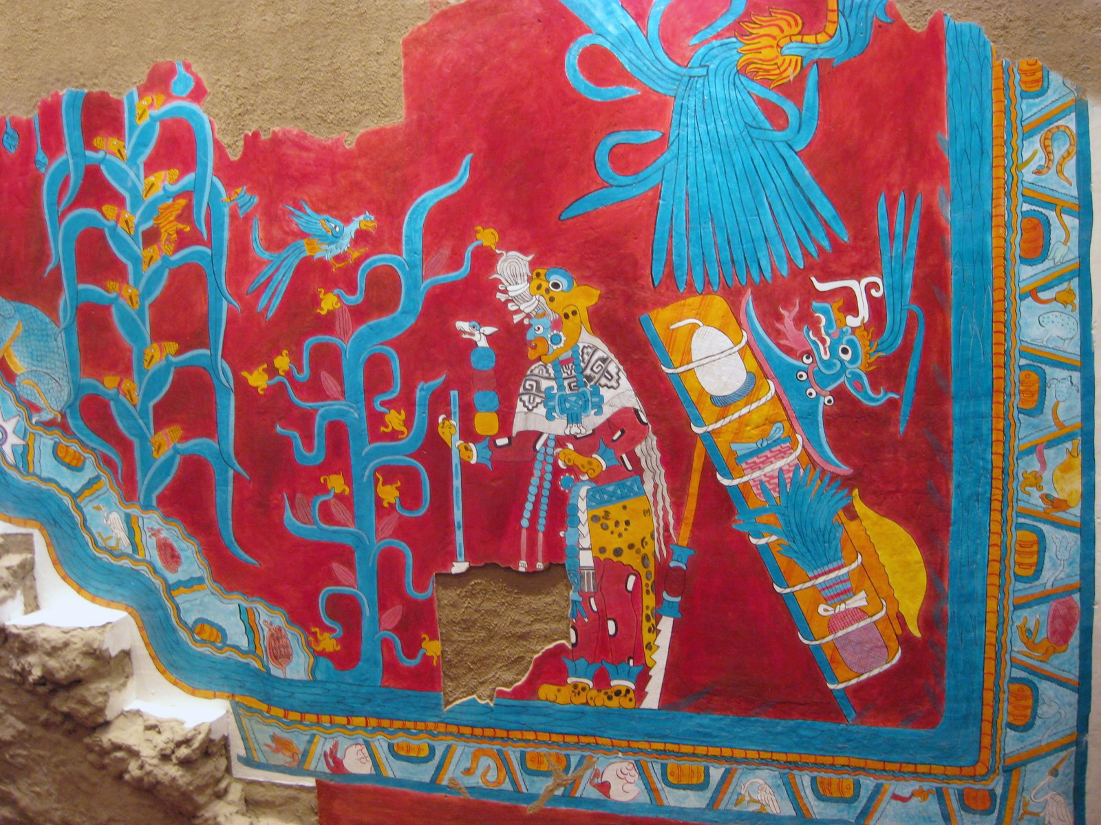 Mural Wall Art Cacaxtla Mexico
