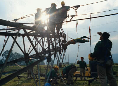 FARC-EP electrical tower destroyed - torre electrica destruida
