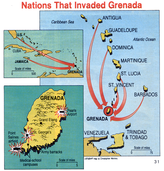 University Of Bristol - Grenada maps with countries