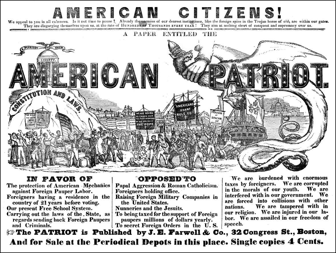 nativism race and immigrants A brief history of nativism: anti-immigrant organizers singled out chinese immigrants for violence and legalized we want no other race here.
