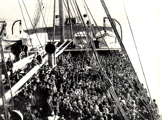 Immigrants arriving