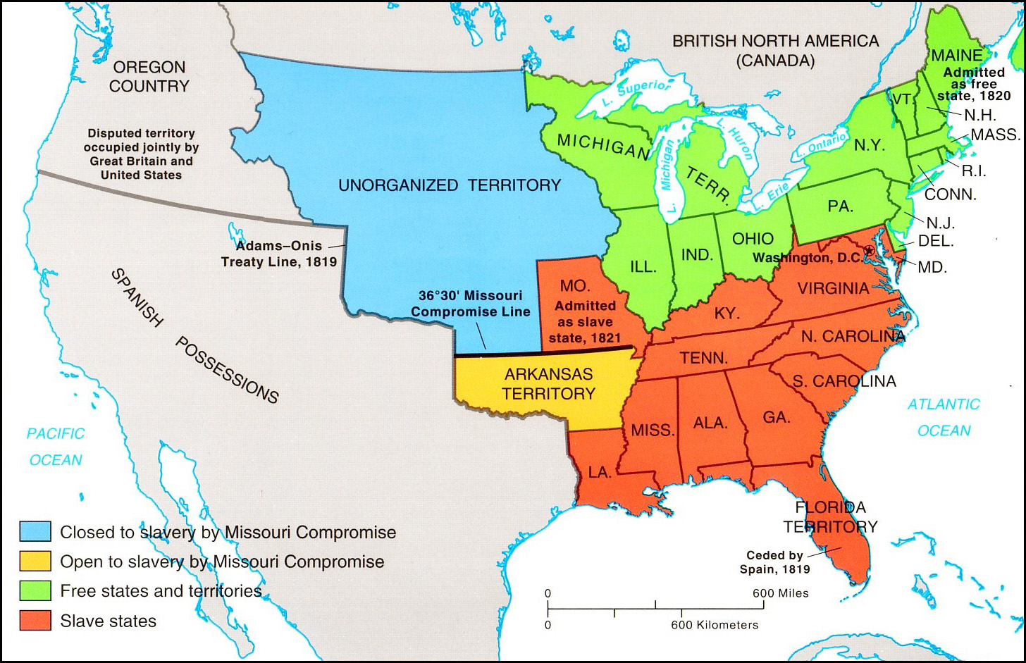 In The Missouri Compromise