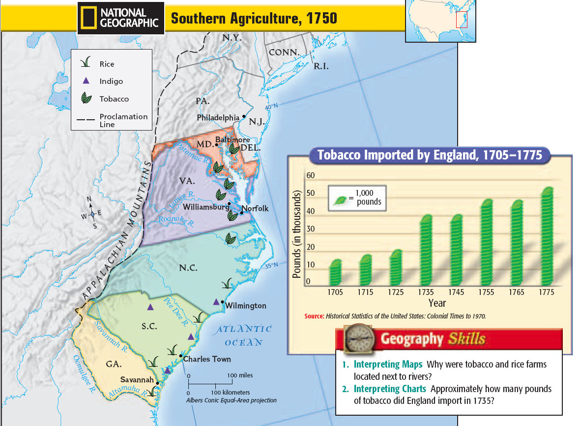 Southern Colonies - Colonization of America (The First 13 ...