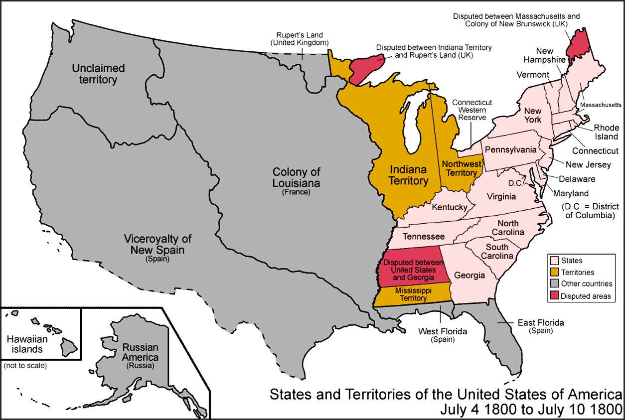 Map DEBATE Federalist V Antifederalist United States - Map of us in 1783