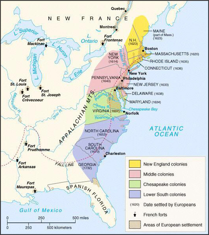 The Thirteen American Colonies Mpas: Map Of Georgia Colony In 1732 At Usa Maps
