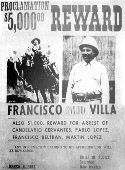 Francisco (Pancho) Villa reward poster