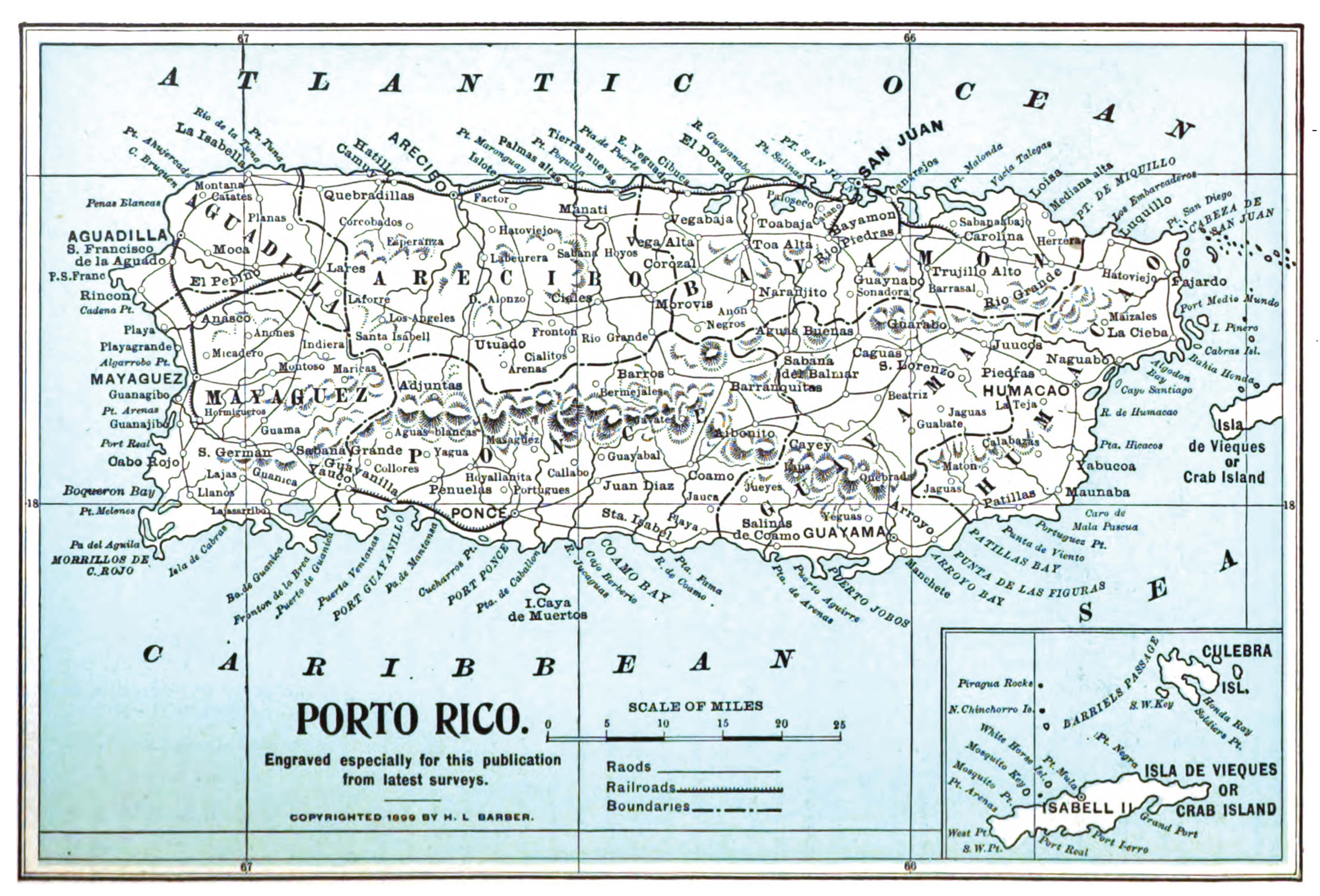 Puerto Rico - Political map of puerto rico