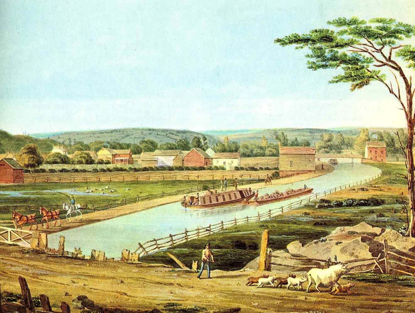 the erie canal It was a dream, and many people scoffed but when the erie canal opened in 1825, it was the marvel of its age and it was soon a huge economic success.